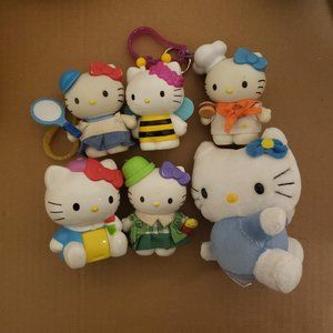 Set of 6 Preloved Hello Kitty Toys and Keychains